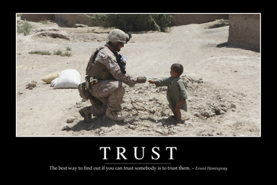 Trust: Inspirational Quote and Motivational Poster Photographic Print