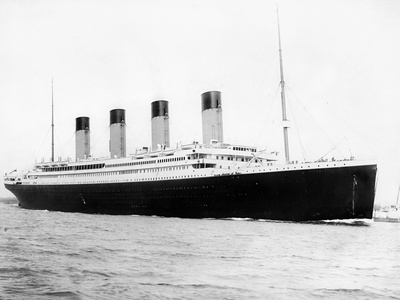 Digitally Restored Photo of RMS Titantic Departing Southampton Photographic Print