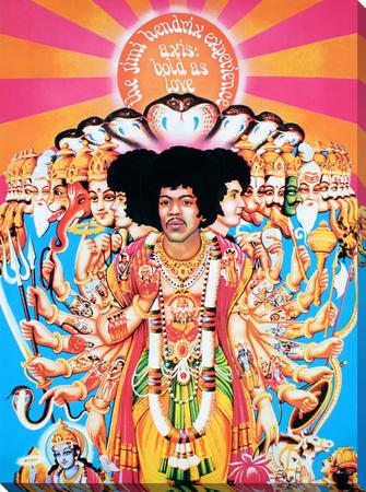 Jimi Hendrix: Axis Kunst op gespannen canvas