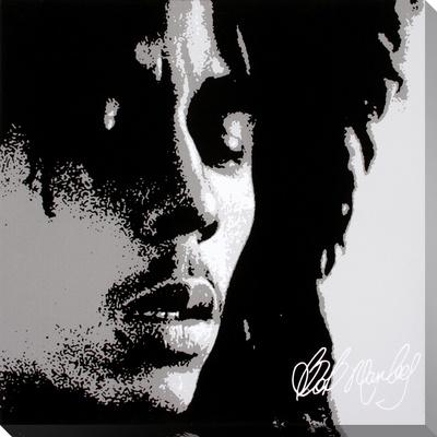Bob Marley: Eyes Closed Stretched Canvas Print