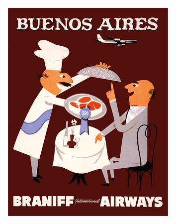 Buenos Aires - Braniff International Airways Giclee Print
