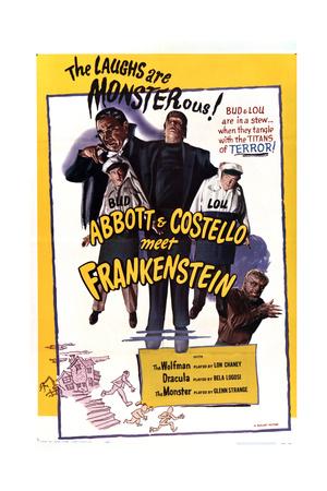Bud Abbott Lou Costello Meet Frankenstein Prints