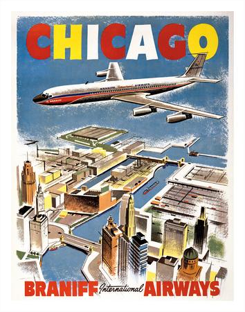 Chicago - Braniff International Airways Giclee Print