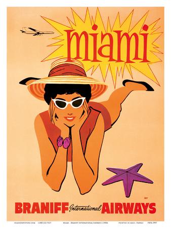 Miami, Florida - Braniff International Airways Posters
