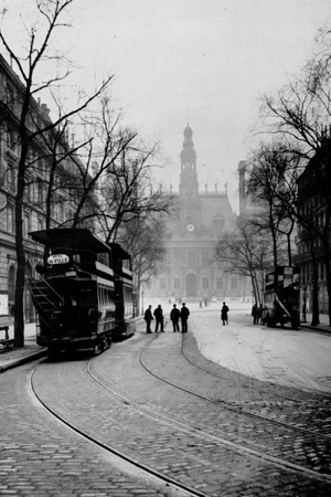 Paris, Which Occurred Victoria, Electric Trams Photographic Print by Brothers Seeberger