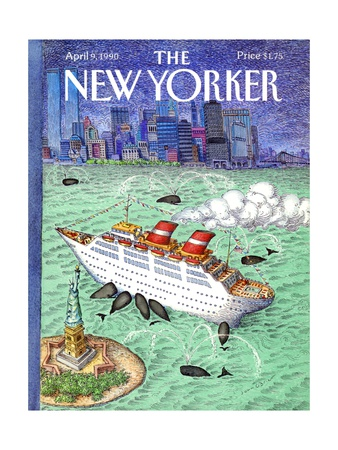 The New Yorker Cover - April 9, 1990 Giclee Print by John O'brien