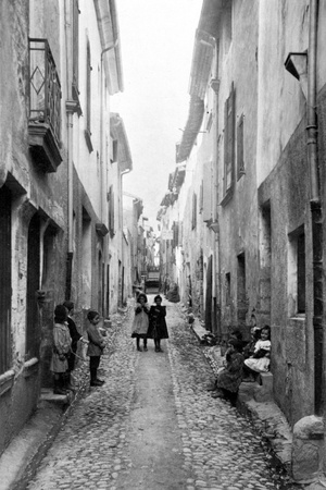 Popular Street of District Photographic Print by Brothers Seeberger
