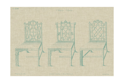 Chinese Chippendale Chairs II Posters by  Vision Studio
