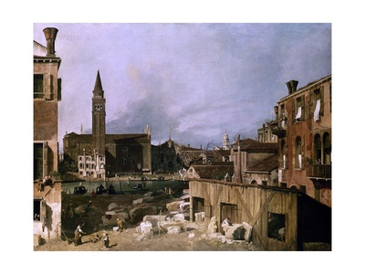 Venice, View of the Campo San Vidal and Santa Maria De La Caridad, 1730 Giclee Print by  Canaletto