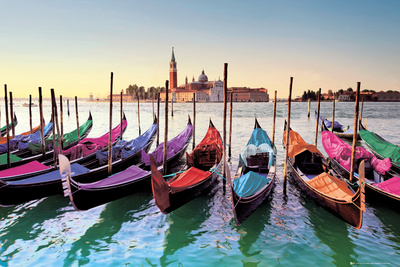 Venice - Gondolas 高画質プリント