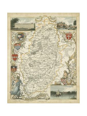 Map of Nottinghamshire Prints