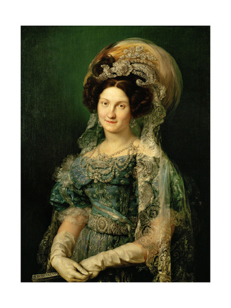 Maria Cristina De Bourbon, Queen of Spain, 1830 Giclee Print by Vicente López Portaña