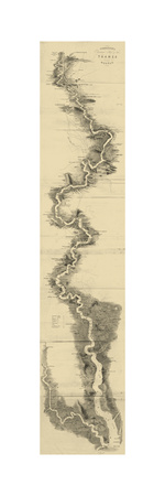 Panoramic Map of the Thames Prints