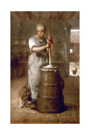 Churning Butter, 1866-1868 Giclee Print by Jean-François Millet
