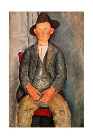 The Young Farmer, 1918 Giclee Print by Amedeo Modigliani