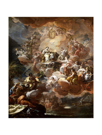Spain Pays Homage to Religion and to the Church, 1759 Giclee Print by Corrado Giaquinto