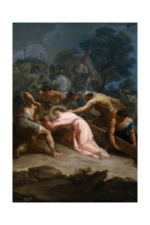 Cristo Camino Del Calvario, Ca. 1754 Giclee Print by Corrado Giaquinto