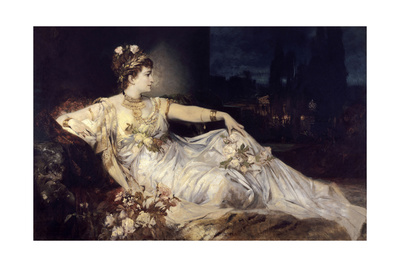 Charlotte Wolter as Messalina, 1875 Giclee Print by Hans Makart