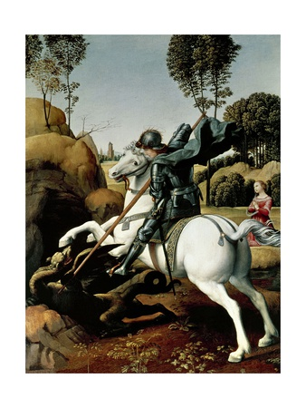 Saint George and the Dragon, 1504-1506 Giclee Print by  Raphael