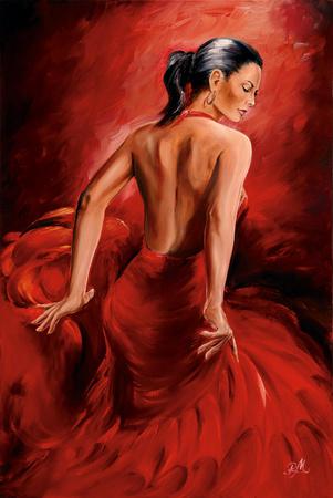 Magrini Red Dancer Póster