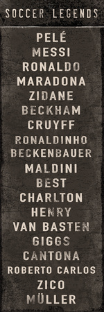 Soccer Legends Print by  The Vintage Collection