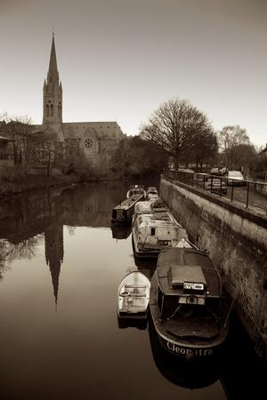 Barge Mooring Photographic Print by Tim Kahane