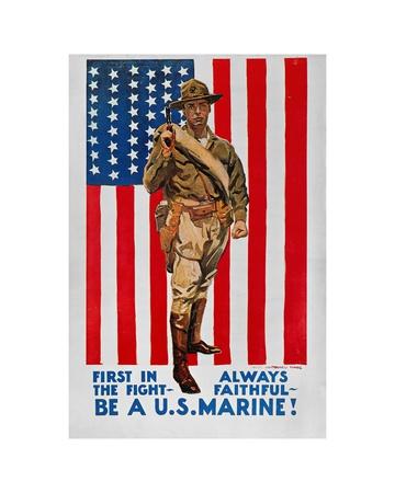 World War I: U.S. Marines Giclee Print by James Montgomery Flagg