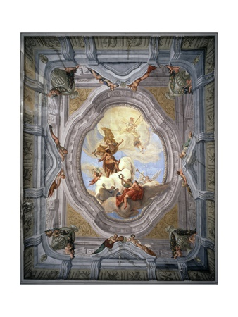 Triumph of Hercules (Trompe L'Oeil Ceiling Painting) Posters by Lodovico Dorigny