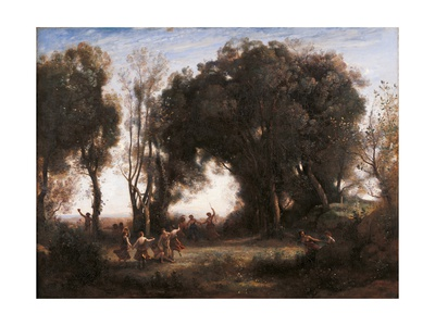 Morning Dance of the Nymphs Prints by Jean-Baptiste-Camille Corot