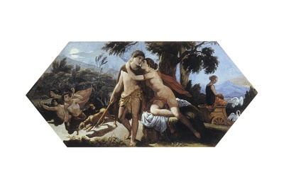 Venus Restrains Adonis from the Doomed Hunt Prints by Puetro Paoletti