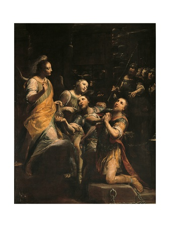 Saints Fermo and Rustico in Jail (With Angels and Soldiers) Posters by Giuseppe Maria Crespi