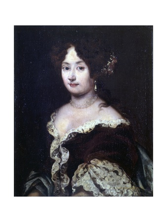 Portrait of a Lady (In Lace and Pearls) Poster von Jacob Ferdinand Voet