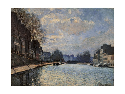 Canal Saint Martin Poster by Alfred Sisley