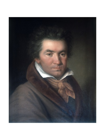 Ludwig Van Beethoven Prints by Joseph Willibrord Mahler