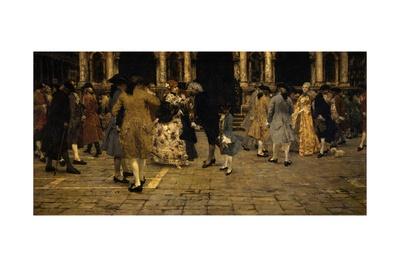 Old Promenade (18th C. Dress Styles) Prints by Giacomo Favretto