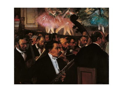 Orchestra of the Opera Art by Edgar Degas