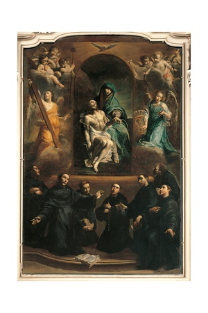 Pity and Saints (Founders of the Order of the Servants of Mary) Posters by Giuseppe Maria Crespi