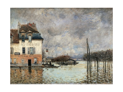 Floating in Port-Marly Posters by Alfred Sisley
