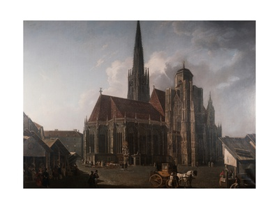 Saint Stephen's Cathedral in Vienna, 1832 Posters by Rudolf Von Alt