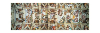 Sistine Chapel Ceiling, View of the Entire Vault Prints by  Michelangelo Buonarroti