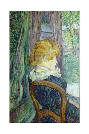Woman Sitting in a Garden Láminas por Henri de Toulouse-Lautrec