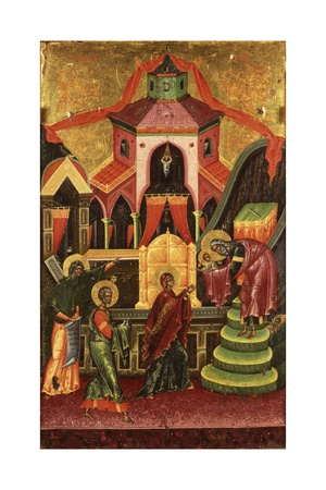 Presentation of Jesus at the Temple Art by Onufri Qiprioti