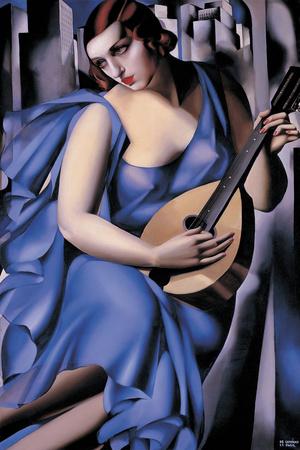 The Musician Giclée-Druck von Tamara de Lempicka
