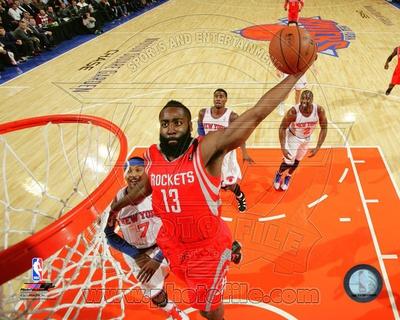 Houston Rockets James Harden 2013-14 Action Photo