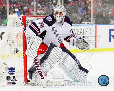 New York Rangers Henrik Lundqvist 2014 NHL Stadium Series Action Photo