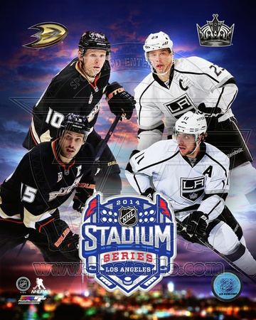 Anaheim Ducks Vs. Los Angeles Kings 2014 NHL Stadium Series Match-up Composite Photo