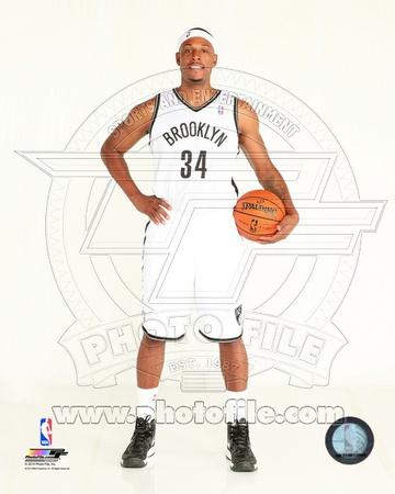 Brooklyn Nets Paul Pierce 2013-14 Posed Photo