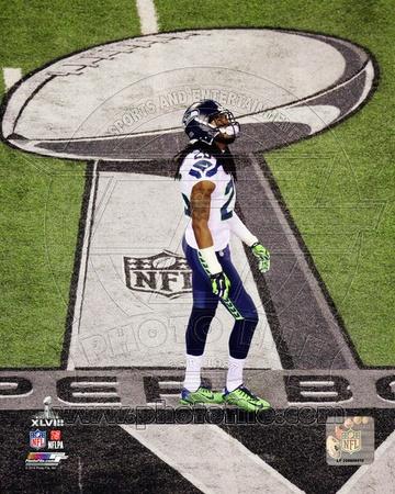 Richard Sherman Super Bowl XLVIII Action Photo
