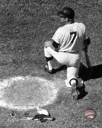 Mickey Mantle On Deck Circle Photo