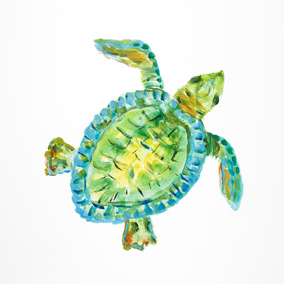 Sealife I Print by Julie DeRice